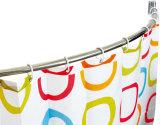 Barre de rideau de douche courbé