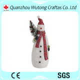 Figura elementi dell'uomo della neve della decorazione di natale della resina della resina di festa