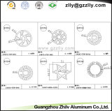 Disipador de calor del perfil de la ráfaga de la arena/aleación de aluminio de aluminio