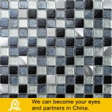 Mosaico del metal en negro y color de la plata