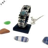 Bracelet en travers multicolore unisexe d'acier inoxydable de modèle neuf de vente d'usine