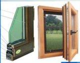 Qualitäts-einzelnes gehangenes hölzernes zusammengesetztes Aluminiumfenster