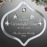 Decorazione resa personale di natale di idee del presente del regalo dell'ornamento dell'albero di natale della casa di festa del partito del mestiere di cristallo