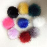Fascino glassato del sacchetto di Keychain della pelliccia della sfera della pelliccia di Fox del Faux