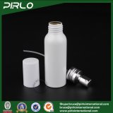 frasco branco de alumínio do pulverizador da cor 100ml com do pulverizador cosmético da névoa da multa do tonalizador do licor do tampão alumínio vazio do atomizador do perfume