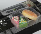2개의 격실 명확한 플라스틱 음식 처분할 수 있는 도시락 (SZ-500)