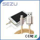 Fabbrica direttamente 2 in 1 cavo di dati flessibile del caricatore del USB del cavo di dati multi per il Android e il iPhone (oro)