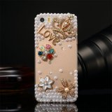 Pearl Rhinestone Crystal Cell Phone Case para iPhone Samsung