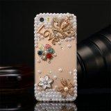 진주 모조 다이아몬드 iPhone Samsung를 위한 수정같은 셀룰라 전화 상자