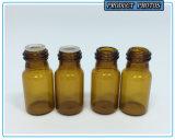 3 ml Pequeño Amber Glass esencial Vial de petróleo con el casquillo de aluminio