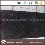 Gabinete de bancada de casa de banho de granito Black Galaxy com pias de cerâmica