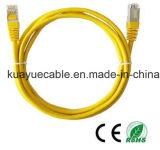 Cabo de Ethernet do gigabit CAT6 com cabo do áudio do conetor de cabo de uma comunicação de cabo dos dados do cabo de RJ45//Computer