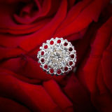 Wedding Flower Pin Rhinestones Crystal Bouquet Jóias