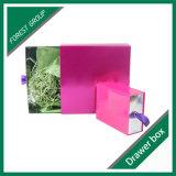 Cadre rose de tiroir de carton de couleur
