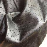 Perforated кожа PU синтетики для одежды Hx-G1705