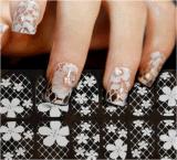 прозрачный белый стикер ногтя стикеров искусствоа ногтя шнурка 3D