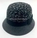 크라운 (YGF030)에 여자의 작풍 신관 직물을%s 모직 모자 중절모