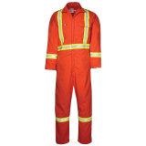 Vestito ignifugo 100% della tuta del Workwear della fiamma di sicurezza dell'olio di cotone