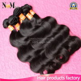 Estensione superiore dei capelli di Remy dell'onda del corpo del Virgin dell'indiano del commercio all'ingrosso 100%