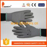 Ddsafety 2017 Nylon mit Polyester-Zwischenlage-Handschuh PU beschichtet auf Palme und Fingern