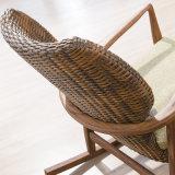 Présidence de salon en bois de présidence d'oscillation de loisirs réglés de cru de meubles de rotin pour les adultes B01-13