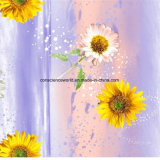 100%Polyester меньший солнцецвет Pigment&Disperse напечатало ткань для комплекта постельных принадлежностей