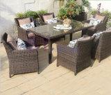 Im Freien Balkon-Landhaus-Hof-Freizeit PET Rattan-Tische und Stühle stellten ein