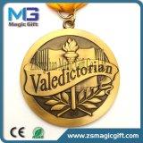 Heiße verkaufengußteil-kundenspezifische antike Schule-Medaillen mit Farbband