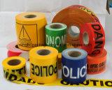 """De normale Band van de Voorzichtigheid met Band 3 van de Waarschuwing van de Verpakking van de Doos """" X1000'x30mic"""