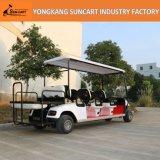 6+2 Bus van het Sightseeing van de Kar van het Golf Seater de Mini in de ToneelVlek van de Luchthaven van het Hotel (ry-ez-801E), de Elektrische Kar van Golf 8 Seater voor Verkoop