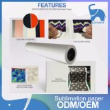 Fast Dry Sticky / Tacky Roll Sublimation Paper 160cm 100GSM