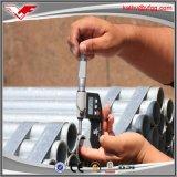 Figura rotonda della sezione di HDG e tubo d'acciaio galvanizzato tecnica