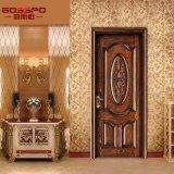 Inicio tallado de madera para interiores puertas de la sala de la puerta principal en madera (GSP2-009)