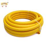 Boyau flexible jaune d'aspiration de surface lisse de PVC