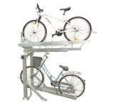 Galvanizado Double Deck Estacionamento Bike Rack