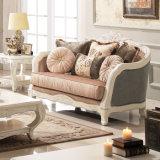 ホームのための旧式な木ファブリックソファー愛シートそして椅子