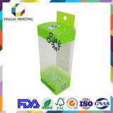 Ориентированный на заказчика коробка напечатанная пластмассой упаковывая с вися отверстием
