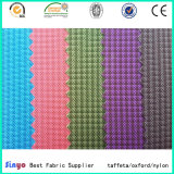 Bolsos y equipaje, utiliza el 100% poliéster PU/textiles recubiertos con PVC tejido Jacquard en diseños de moda