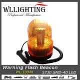 40 Индикатор импульсная лампа загорается сигнальная лампа вращающегося проблескового маячка лампы мигают желтым светом