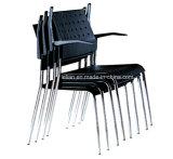 Cadeira ergonômica de pilha de plástico empilhada com perna metálica (LL-0033)