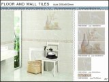 3Dインクジェット床および壁のセラミックタイル(VWD36C616、300X600mm)