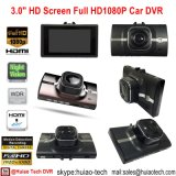 "Cheap 3.0 ""Full HD1080p Dashboard Car DVR com G-Sensor, HDMI, Avout, 5.0mega Car Camera DVR-3008"
