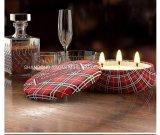 Candela domestica sentita della decorazione del contenitore di regalo, candela della cera