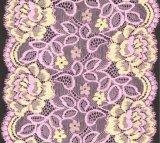 Zwei Farbe blumige Stickerei-Spitze für Bra Underwear der Dame Hochzeits-Kleid an den niedrigen Kosten