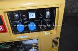 генератор одиночной фазы 5kVA молчком портативный для дома