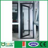 Portello di alluminio poco costoso dell'alluminio di prezzi/della stoffa per tendine con vetro (PNOC0012CMD)
