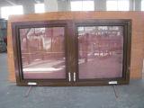Doppeltes glasig-glänzendes reizbares Aluminiumfenster mit amerikanischer Art