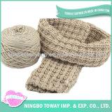 Forma de poliéster Senhora lenço de tecido de algodão tecido Longo