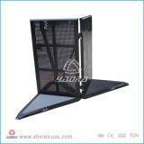 Stabiele Barricades Aluminuml met Beweegbaar Karretje