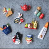 Whosale Food Type Resin Tourist Fridge Magnets pour Décoration d'intérieur